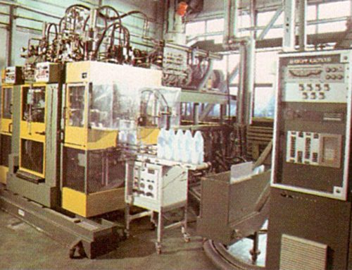 Production of bottles for household chemicals and automotive 1955.